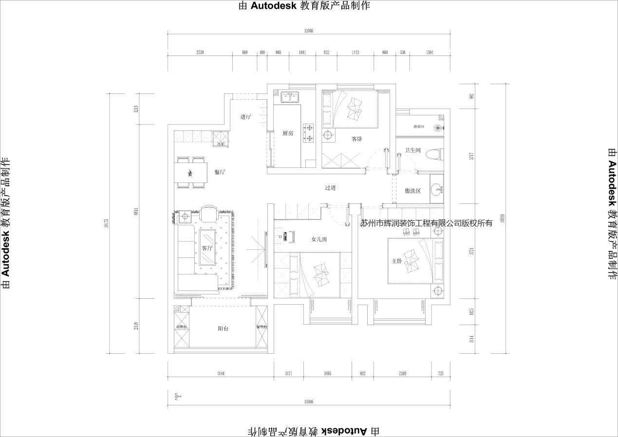 空间设计装修图库之西江斜月平面图