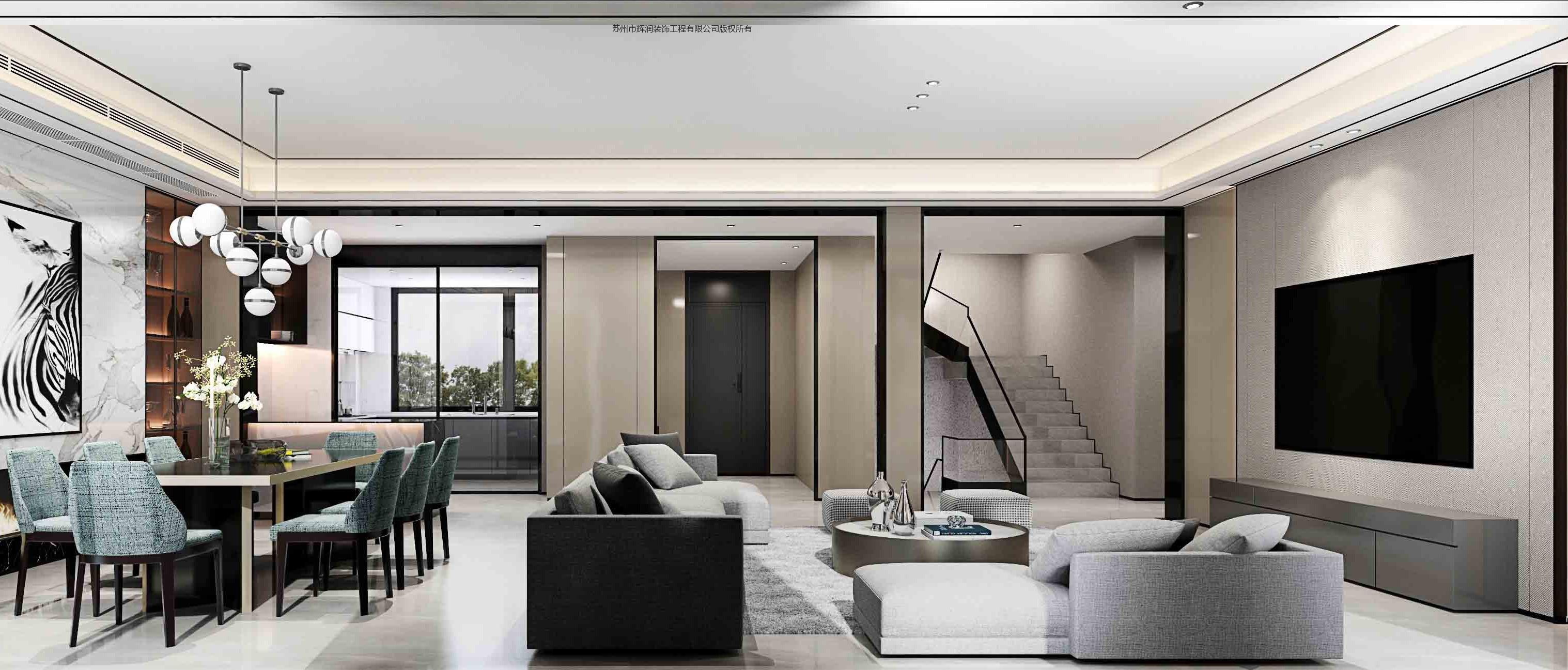 别墅案例图库之唤醒生活的闪光时刻客厅
