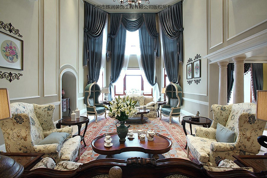 别墅设计模板之低调奢华有内涵主厅
